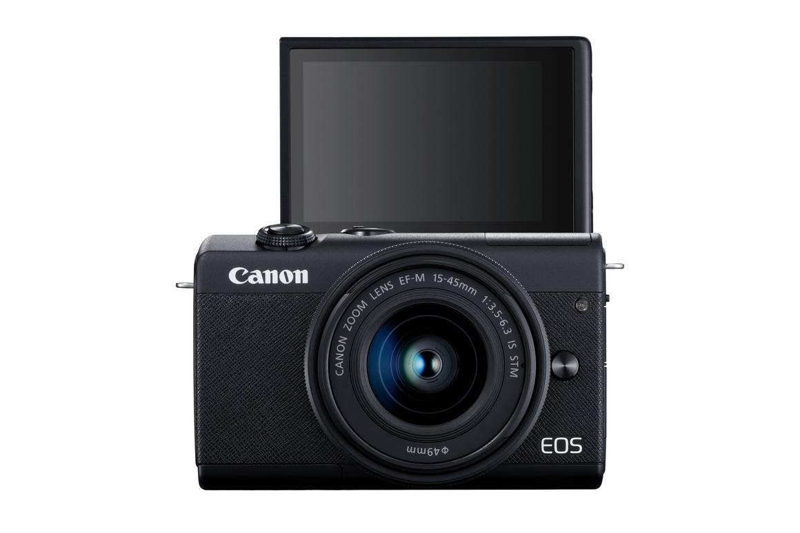 The EOS M200 is selfie-friendly