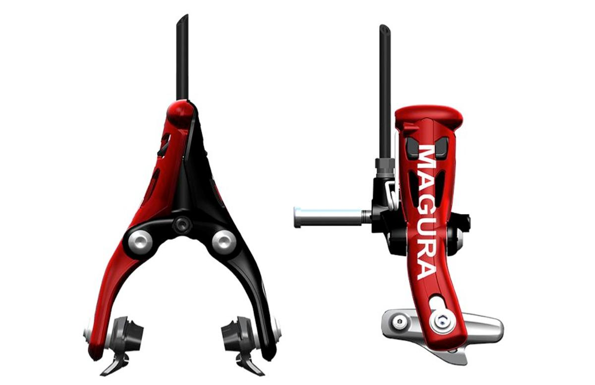 Magura has introduced the world's first hydraulic braking system for road bicycles, known as RT8 TT