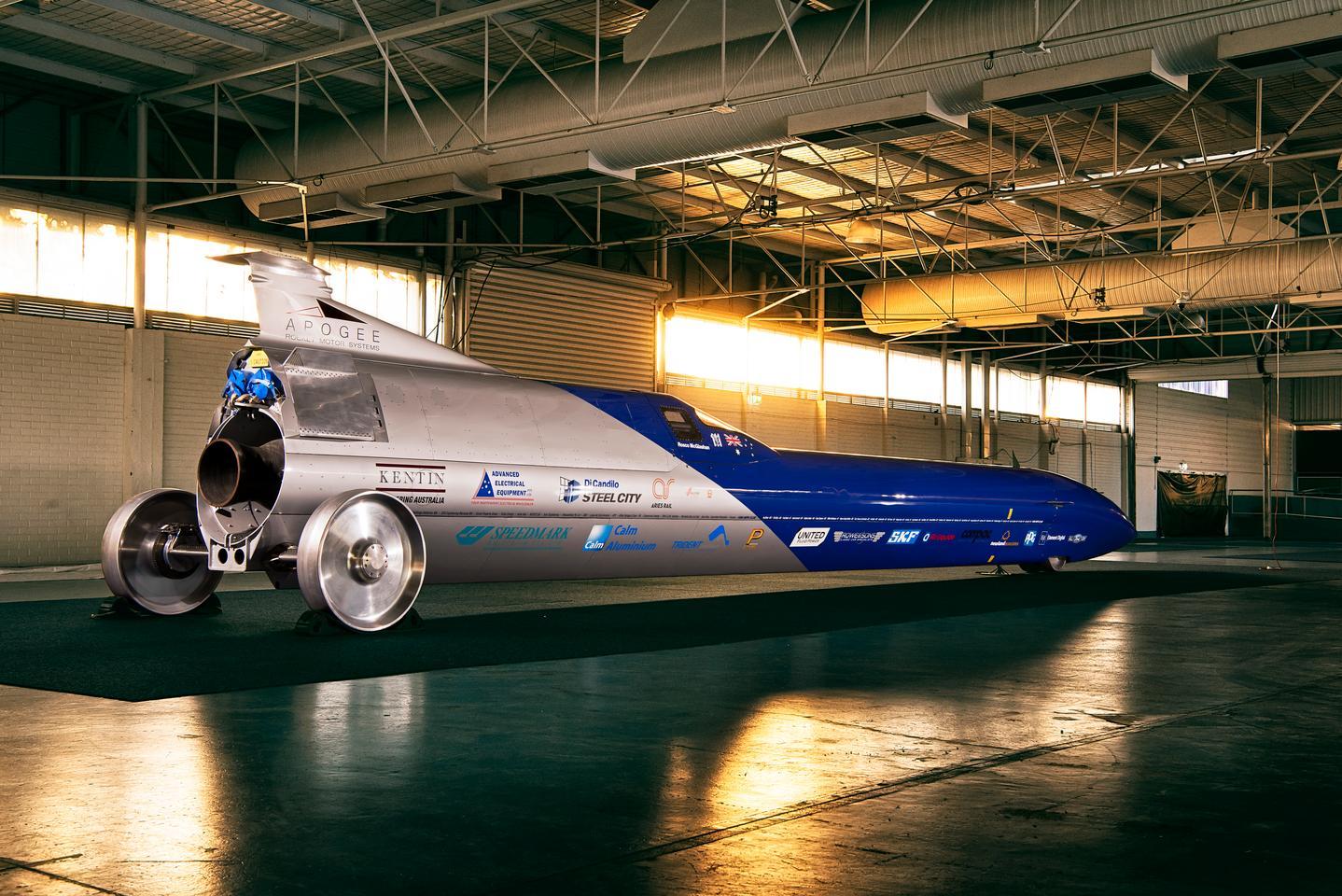 The Aussie Invader 5R's custom-designed rocket engine is good for around 62,000 lbf of thrust