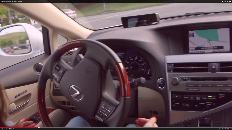 Google's self driving car - interior