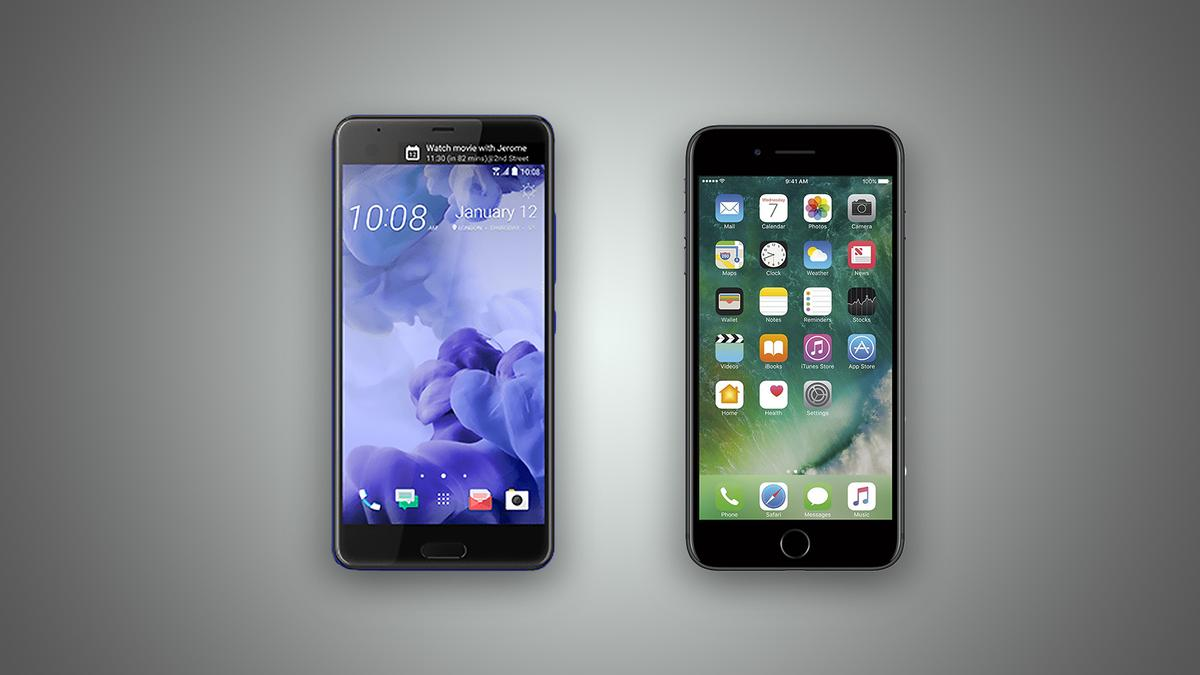 New Atlas compares the features and specs of the HTCUUltra and Apple iPhone 7 Plus