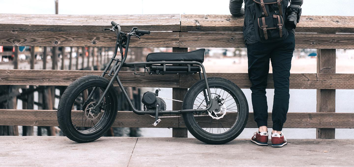 While the 65-lb (29.5-kg) Super 73 technically is an electric bicycle, its frame design, seat and rugged 20 x 4.25-inch tires certainly look more motorbike-like