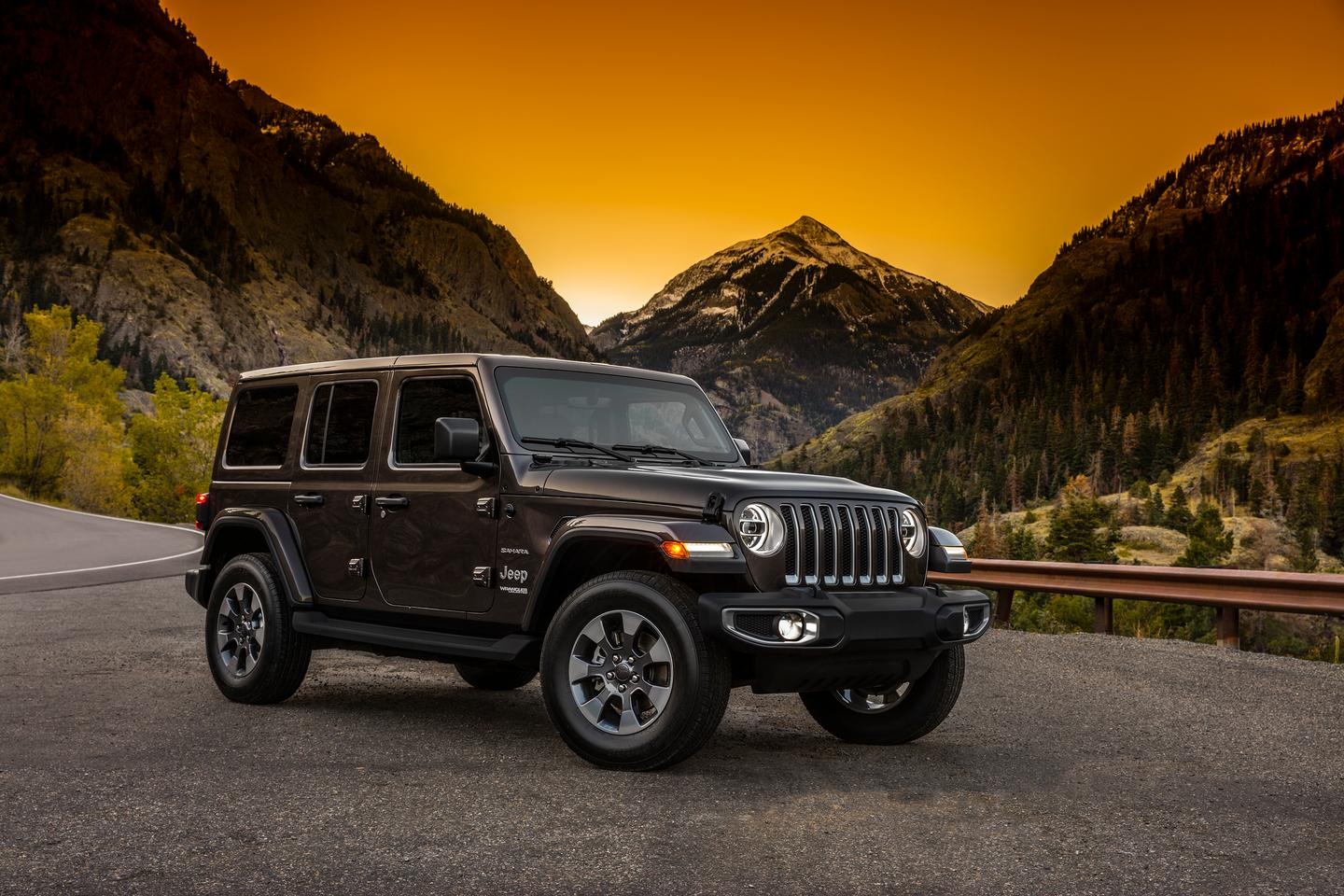 The new 2018 Jeep Wrangler Unlimited is teased with this photograph, showing the new body styling given to the next-generation of the iconic off-roader