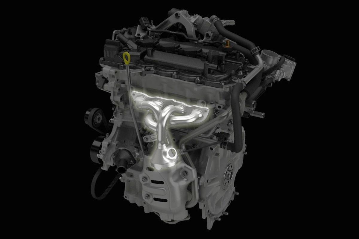 In order to achieve significant improvements in thermal efficiency, the Atkinson Cycle engines have been lavished with numerous innovations including a reshaped intake port, increased compression ratio, idling-stop, Variable Valve Timing intelligent Electric (VVT-iE) and a cooled Exhaust Gas Recirculation system (highlighted in image)