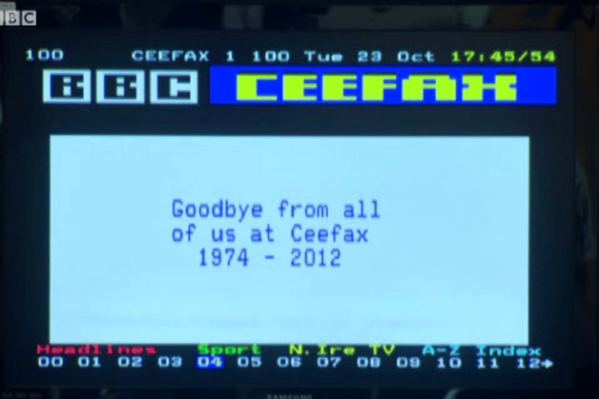 The last Ceefax page