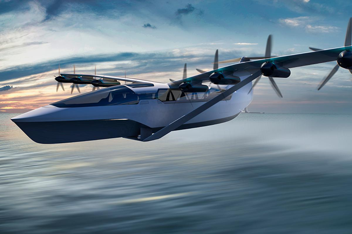 Boston company Regent is building an electric ground effect vehicle capable of flying 180 miles at 180 mph