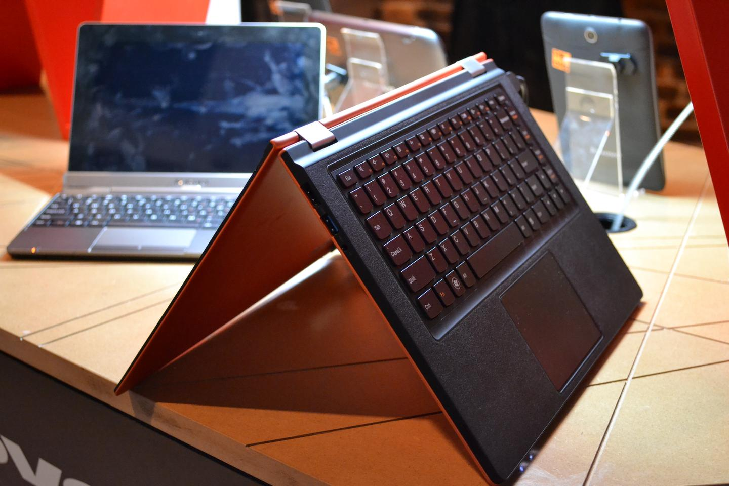 The YOGA 13 in tent mode at IFA 2012