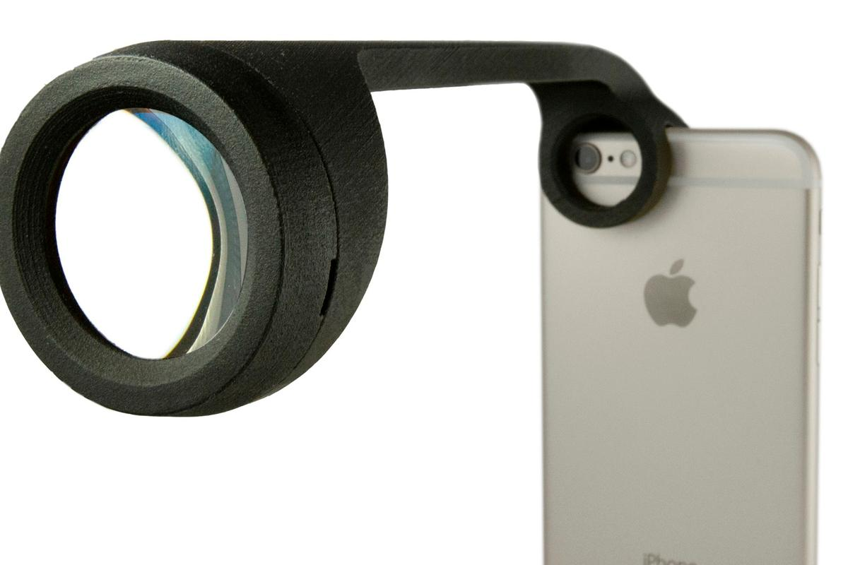 The visoClip and visoScope (pictured) are compatible with every Apple smartphone since the iPhone 5