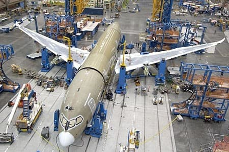 Final assembly of the third flight-test 787