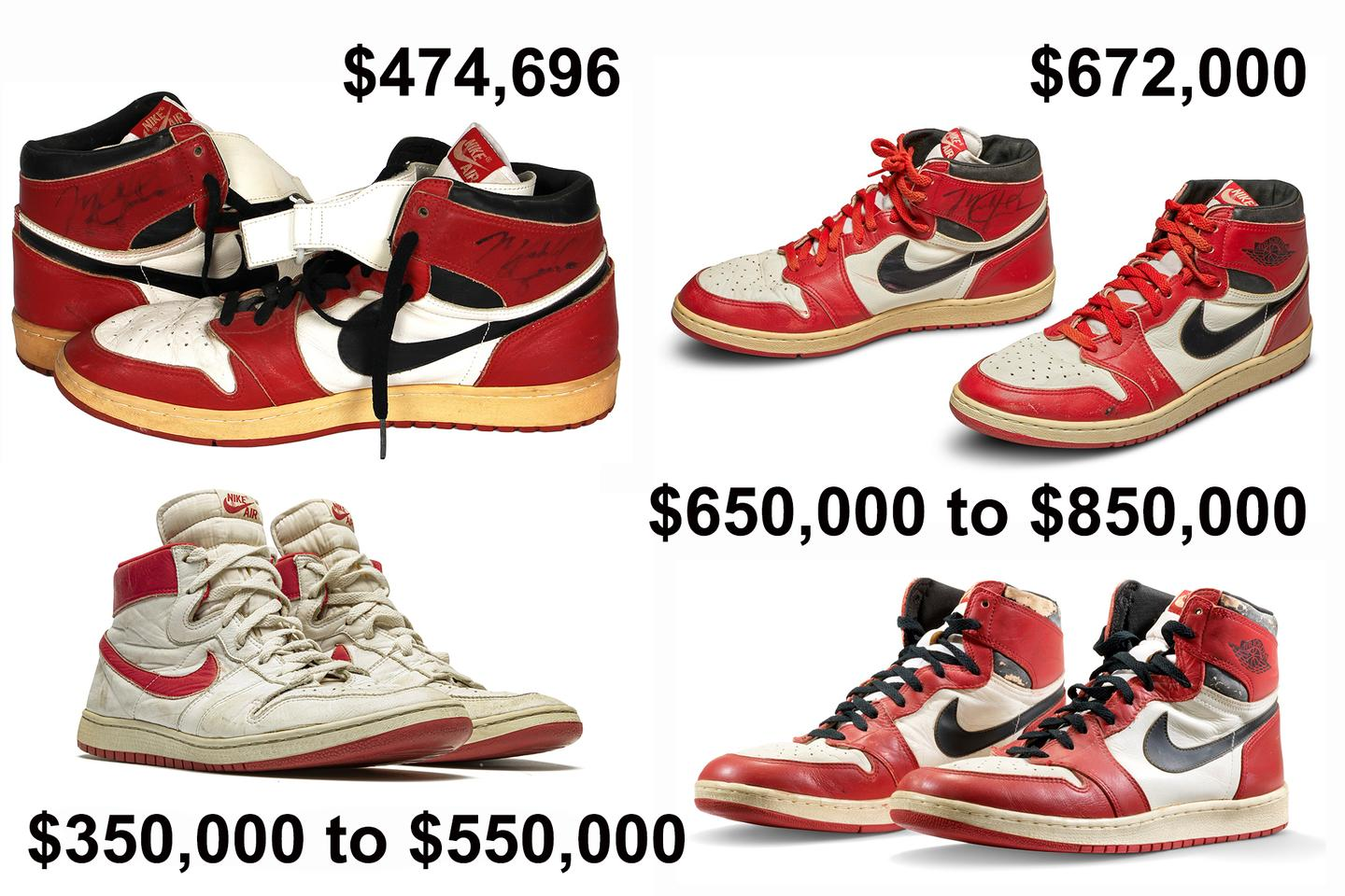 Michael Jordan has sold the two most valuable pairs of sneakers (indeed, ANY footwear) in history in the last three months and seems likely to own the top four prices ever inside the next two weeks.