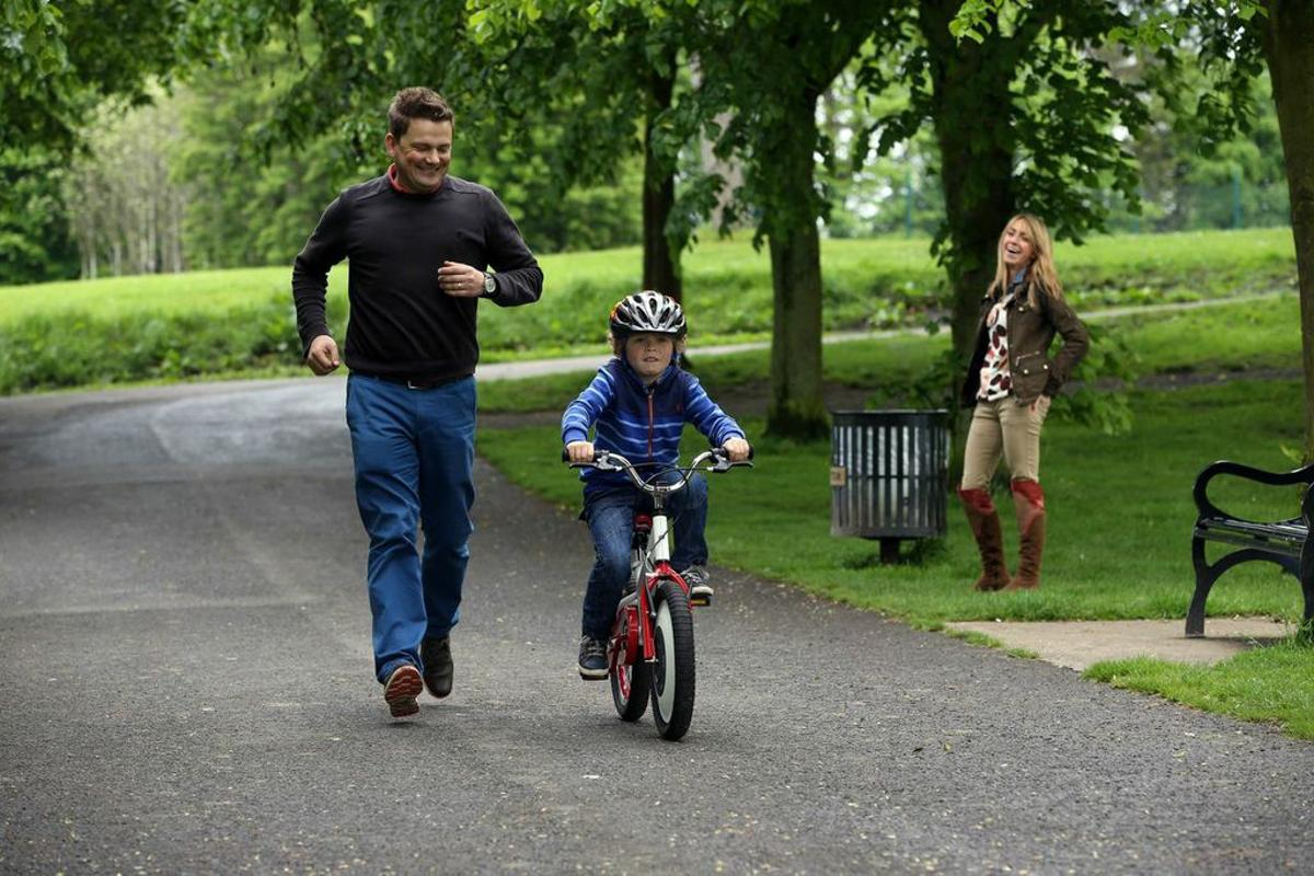 The Jyrobike is claimed to be able to teach a child to ride a two-wheeler within one afternoon