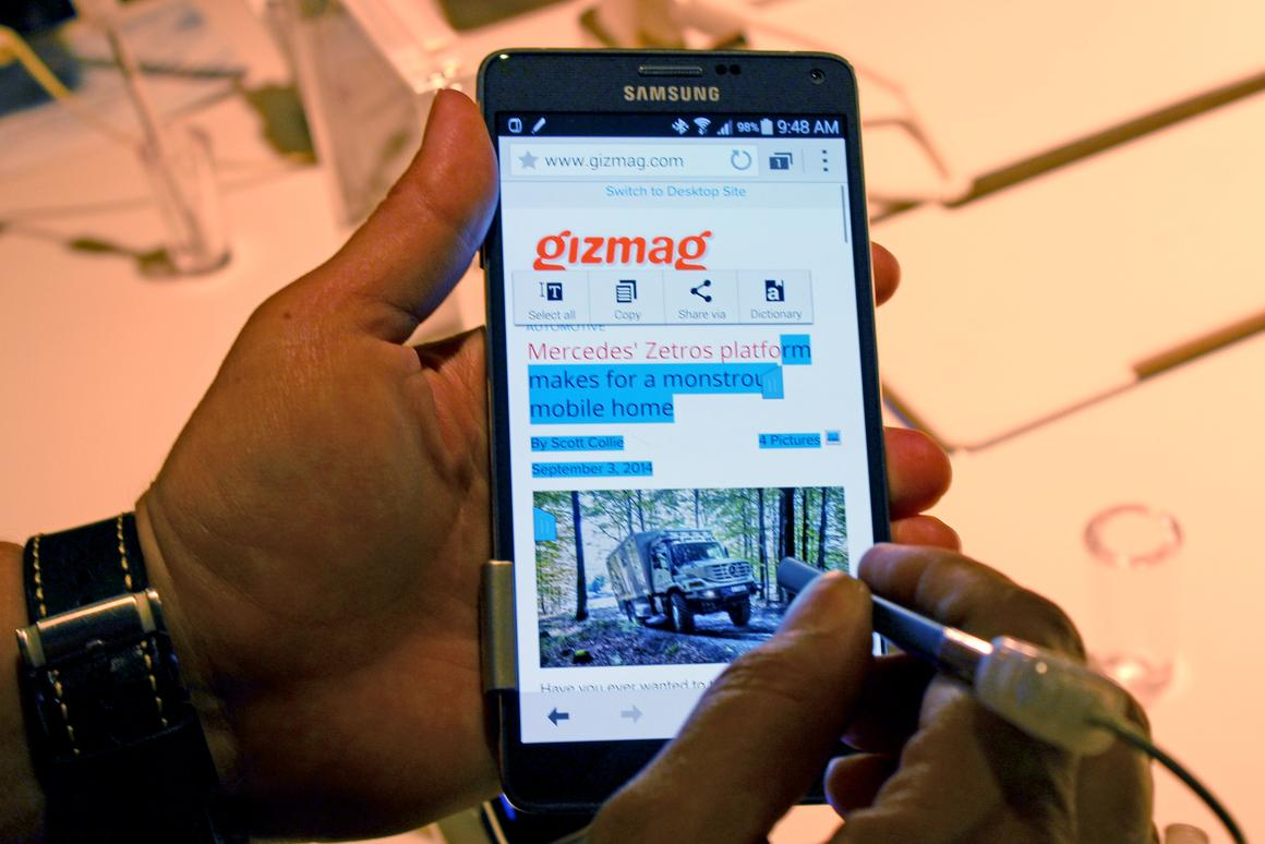 Galaxy Note 4 (Photo: Will Shanklin/Gizmag.com)