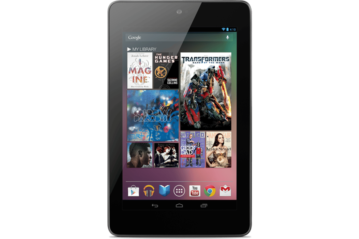 The Nexus 7 is built by Asus and ships with Android 4.1 Jelly Bean