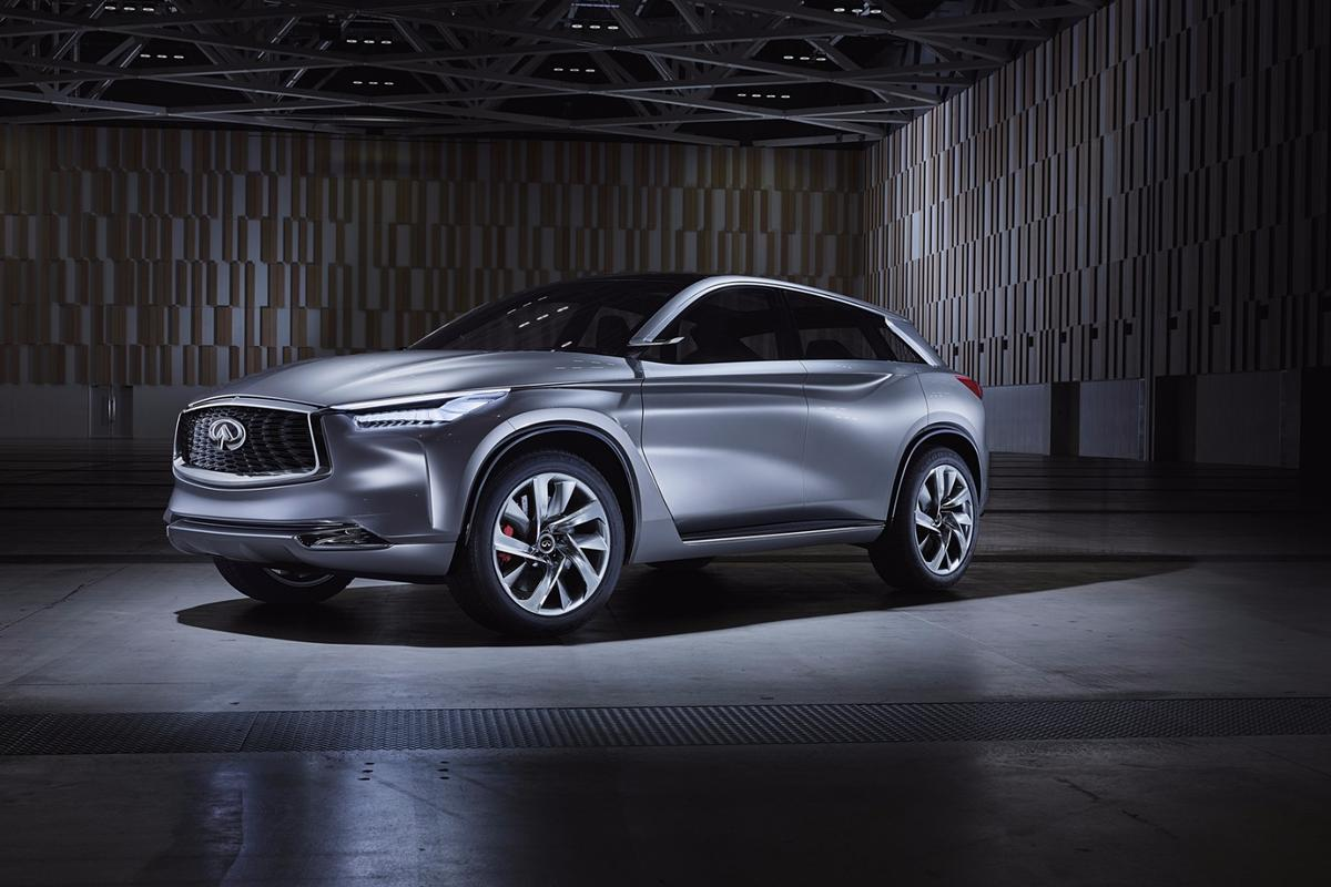 "The Infiniti QX Sport Inspiration concept is said to be influenced by Infiniti's ""Powerful Elegance"" design approach"