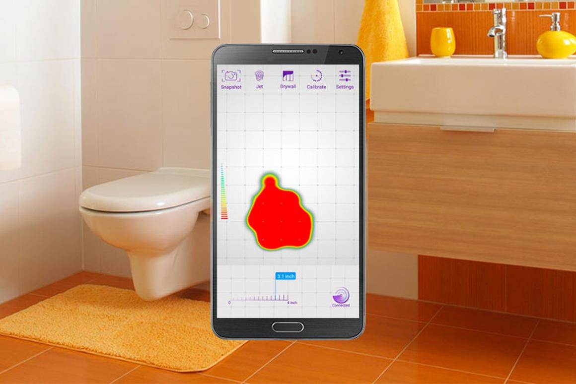 The sensor is able to detect rodents and moving objects behind a wall