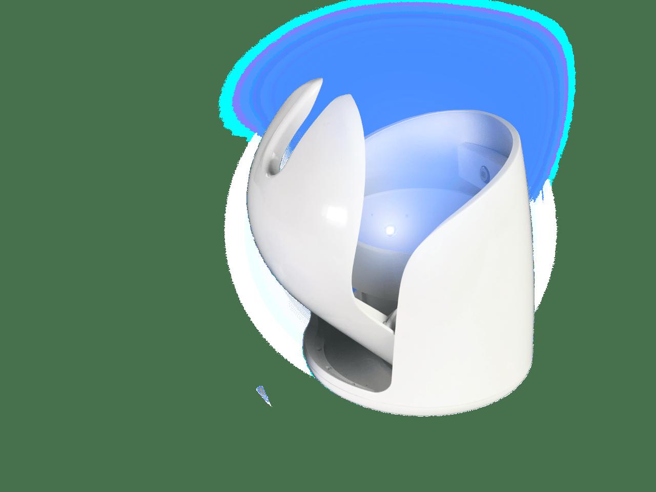 Lumi: self opening and closing toilet brush caddy
