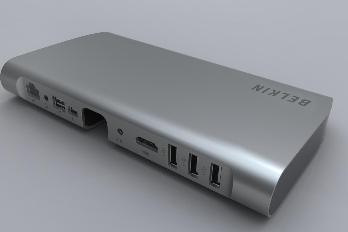 Belkin's Thunderbolt Express Dock allows multiple peripherals to be connected via a single cable