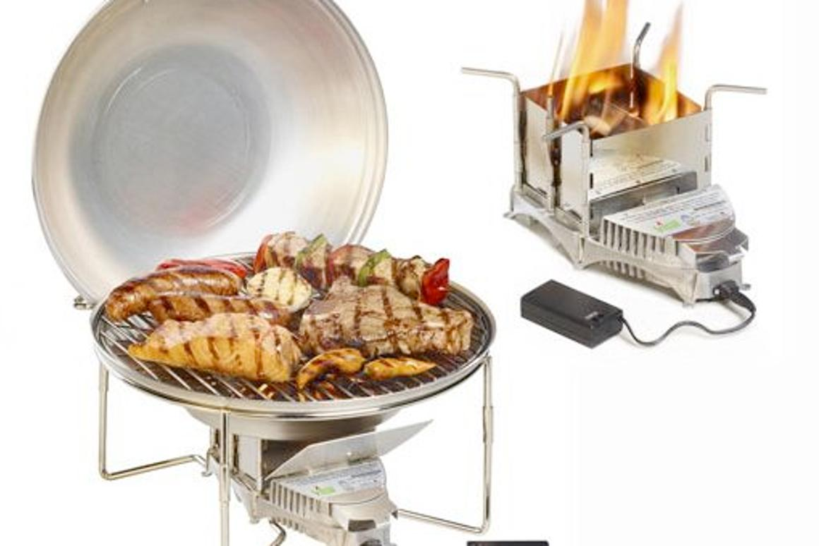 The VitalGrill Barbecue (left) and Stove