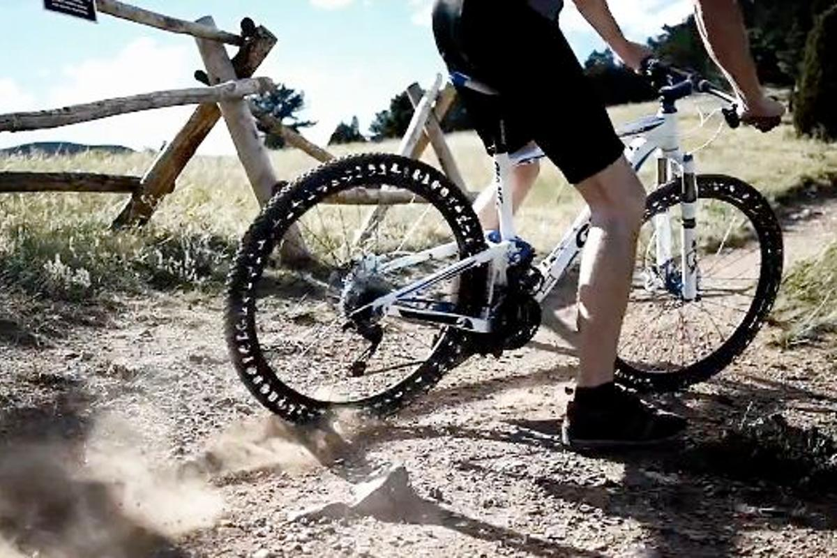 The mountain bike version of the Energy Return Wheel, being put to the test