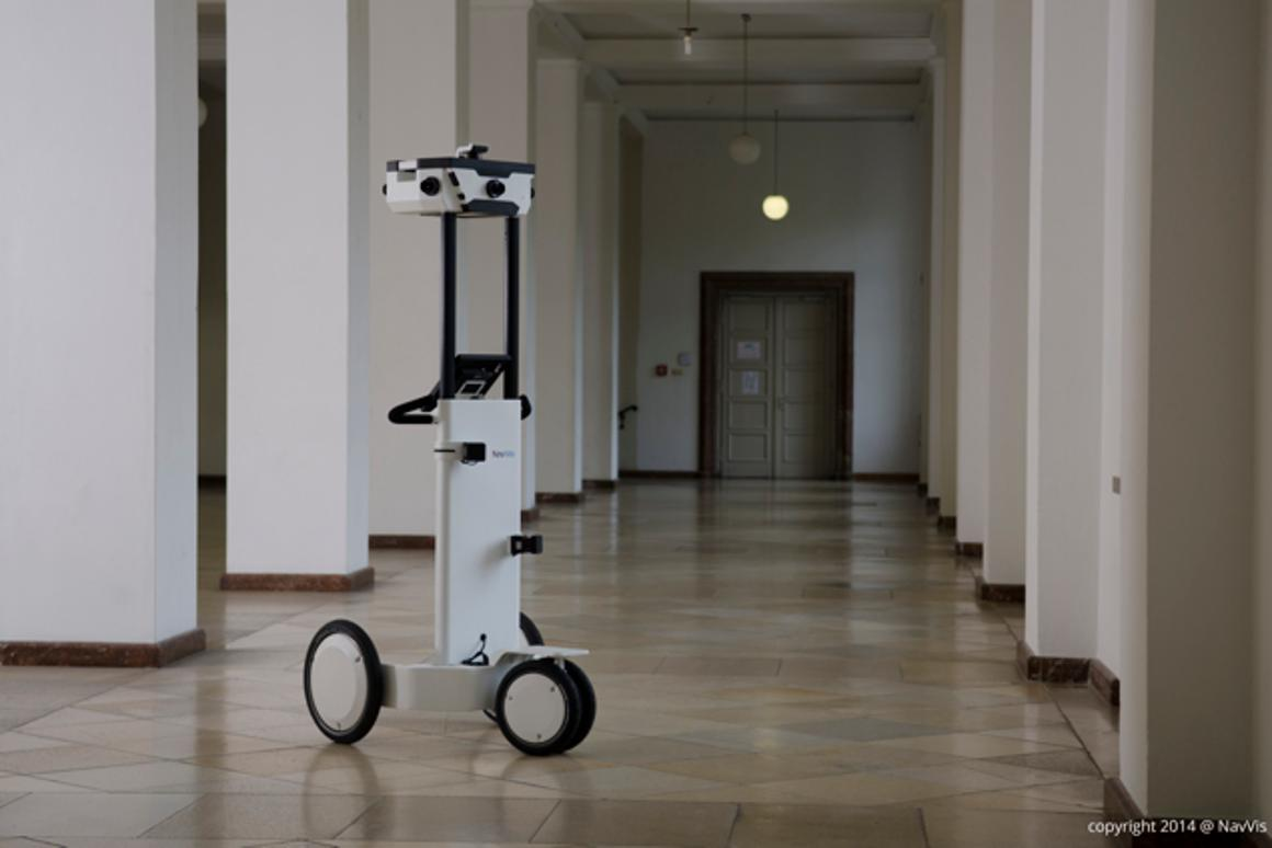 Users of the NavVis mapping trolley don't have to hide from its cameras