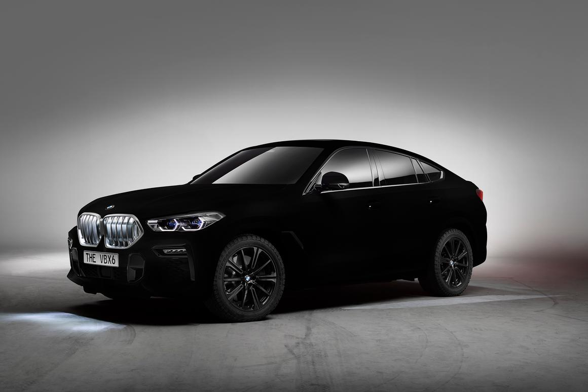 The world's first Vantablack car is a BMW X6