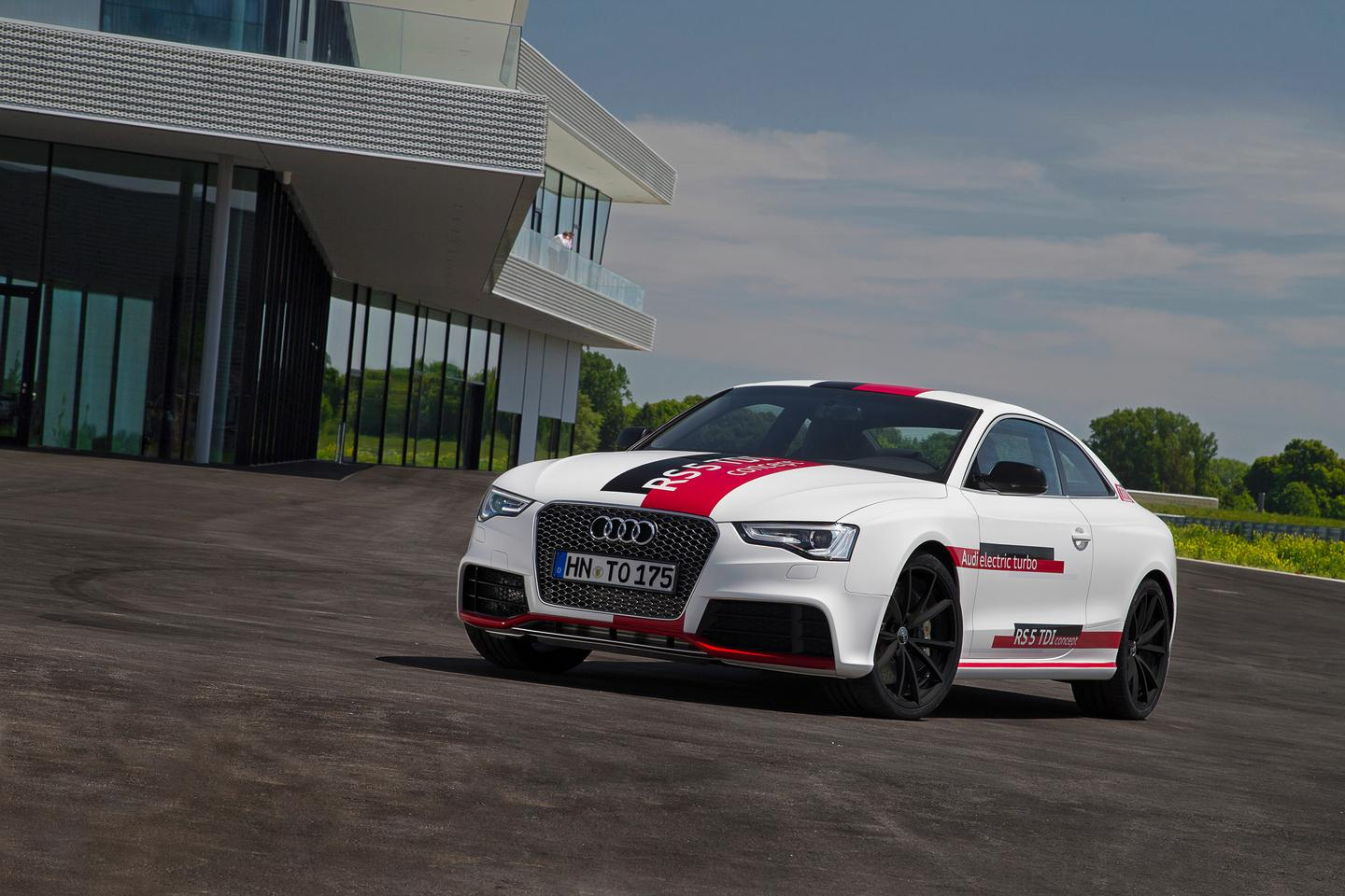 The RS 5 concept's three turbos combine for 385 hp and 553 lb-ft