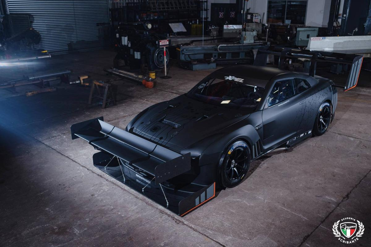 Franco Scribante Racing's 1600-horsepower Nissan GT-R will not be lacking in downforce