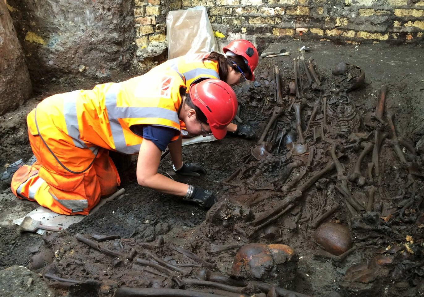 The site where the bones were discovered was part of the Crossrails project to build a station at Liverpool Street in London