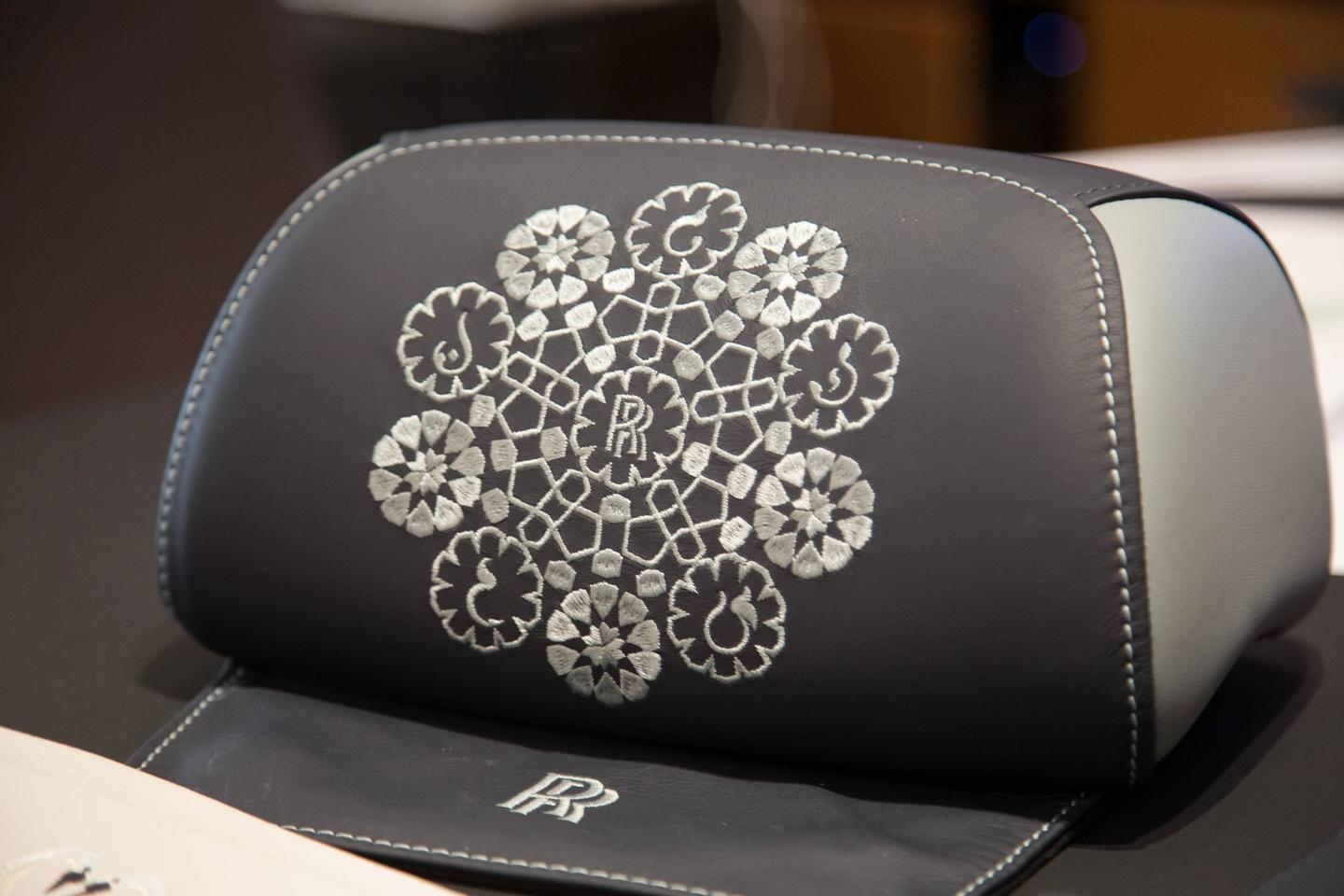 A look at the possibilities with stitching on Rolls-Royce headrests