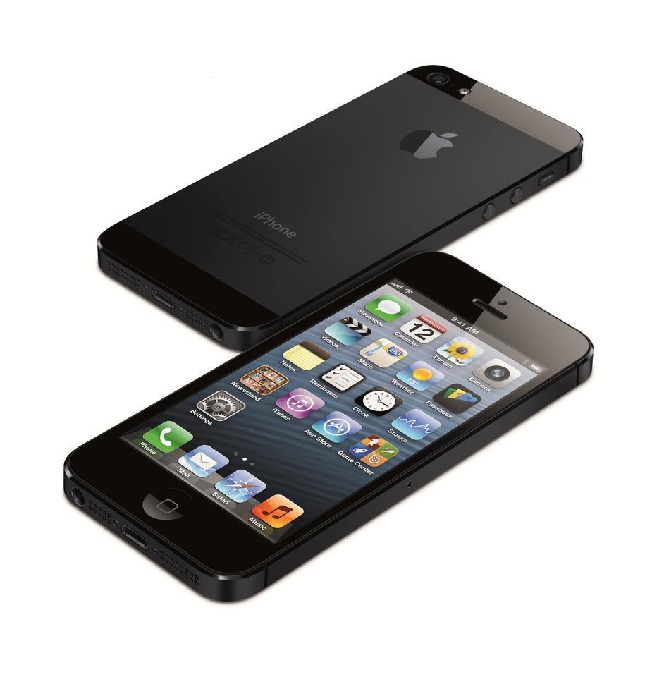 The iPhone 5 features a 7.6 mm anodized aluminum body that is 18 percent thinner and 20 percent lighter than iPhone 4S