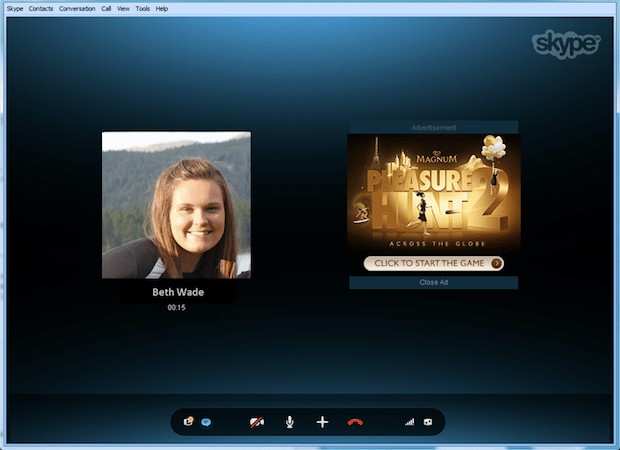 Skype claims its visual ads will serve as entertaining talking points