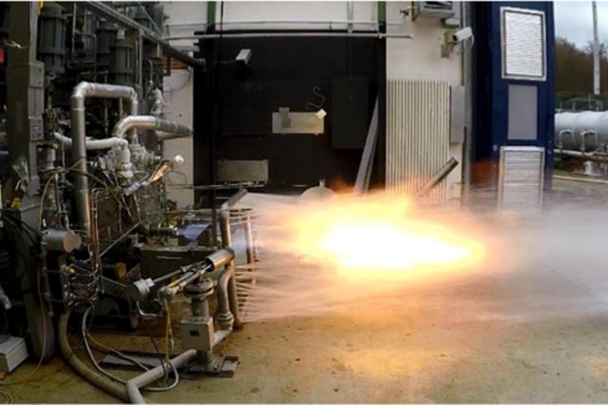 The Prometheus gas generator undergoing tests