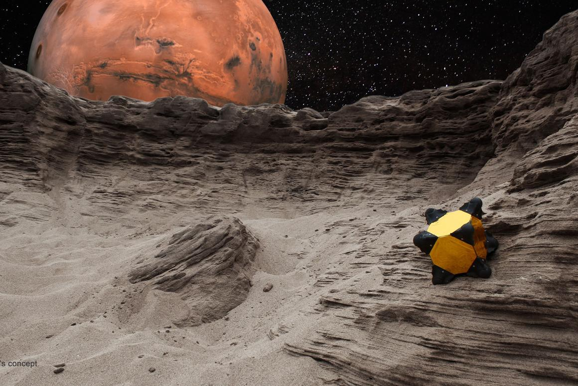 The Hedgehog robot, designed to explore the surfaces of comets, asteroids and small moons