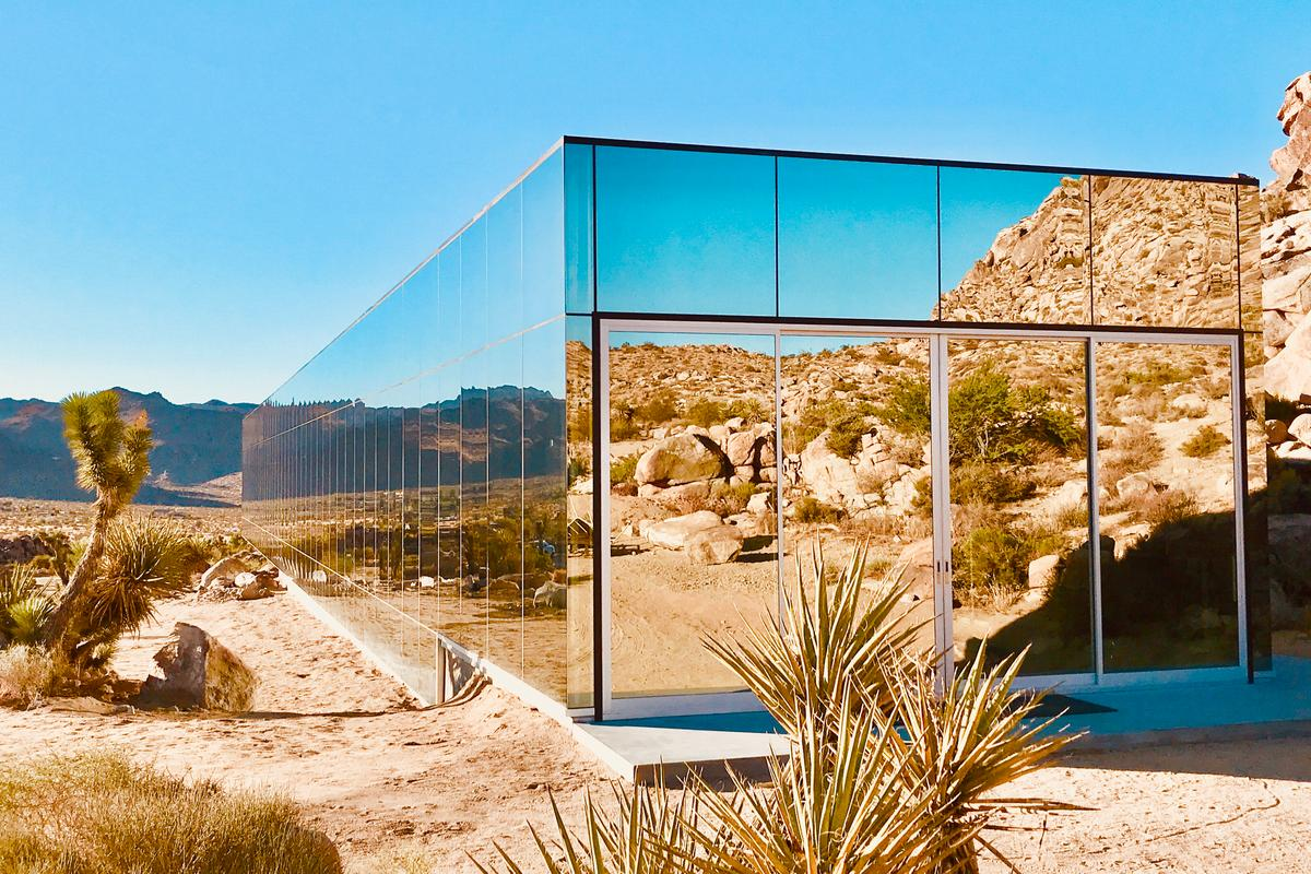 The Invisible House is constructed from steel, glazing, and concrete