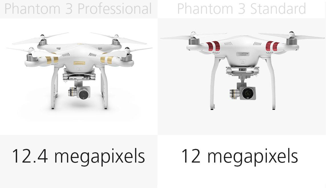 Photo resolution: Phantom 3 Professional and Standard