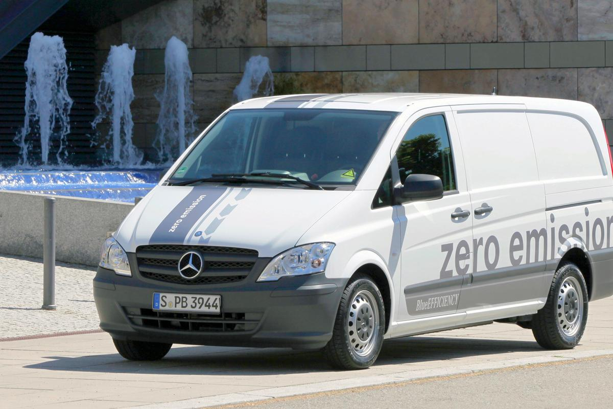 The Mercedes-Benz Vito E-CELL all electric van is nearing production