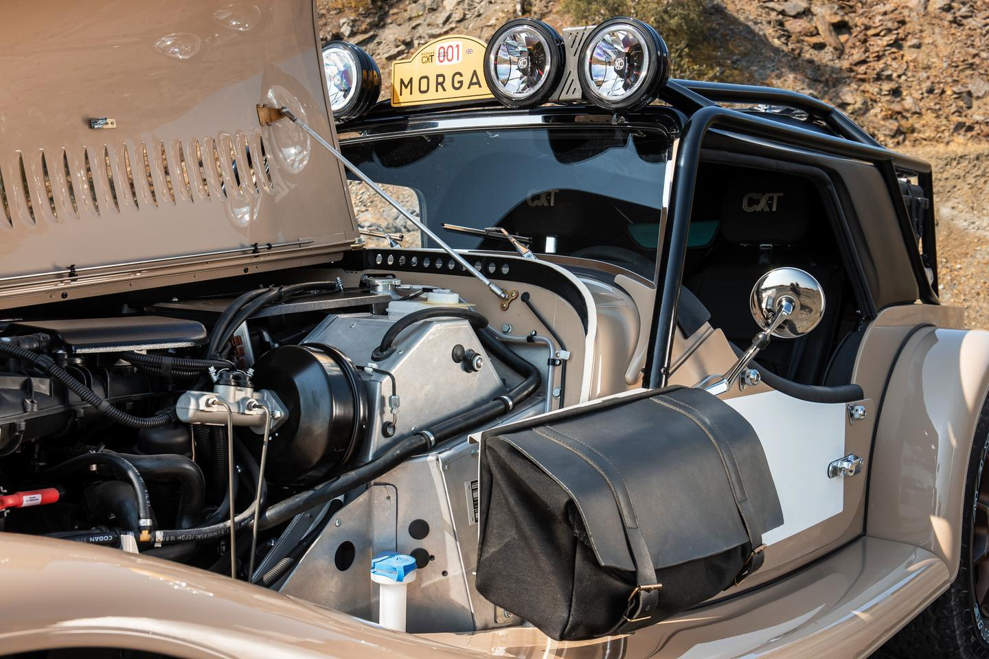 The CX-T comes powered by the standard Plus Four BMW turbo four, but it features an array of off-road modifications throughout