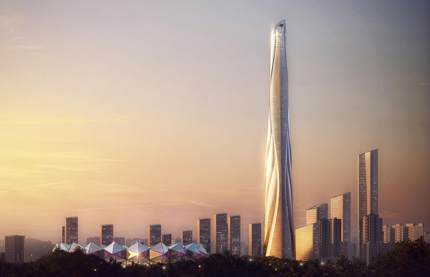The Shenzhen-Hong Kong International Center is slated for LEED Platinum certification (a green building standard)