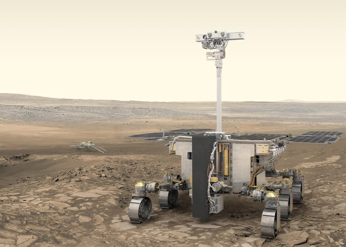 Artist's concept of the ExoMars 2020 rover