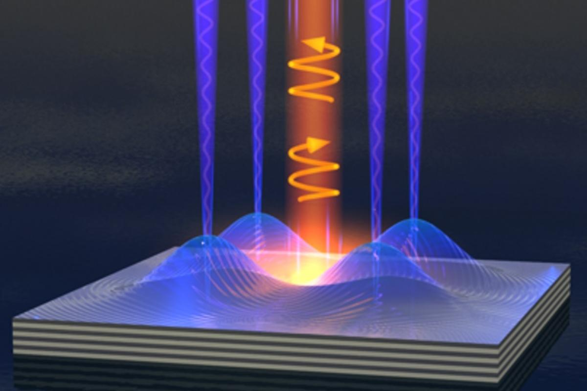 """UsingaPolariton Bose-Einstein condensate form of """"liquid light"""", researchershave created a nanoscale switch that could help vastlyimprove the speed and efficiency of future electronic components"""