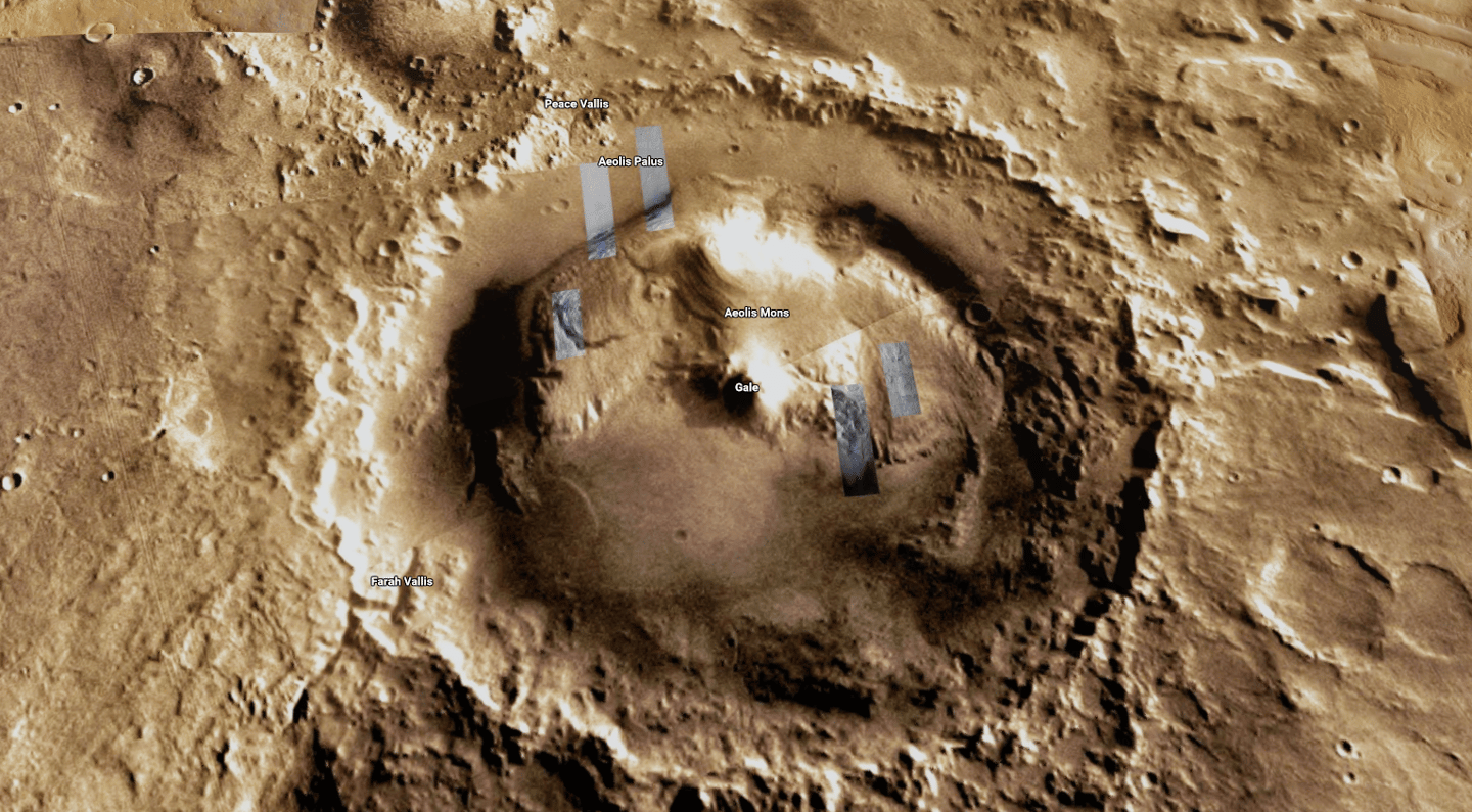 Gale Crater, the landing site of the Curiosity rover on Mars, is one region mapped out inhigh detail