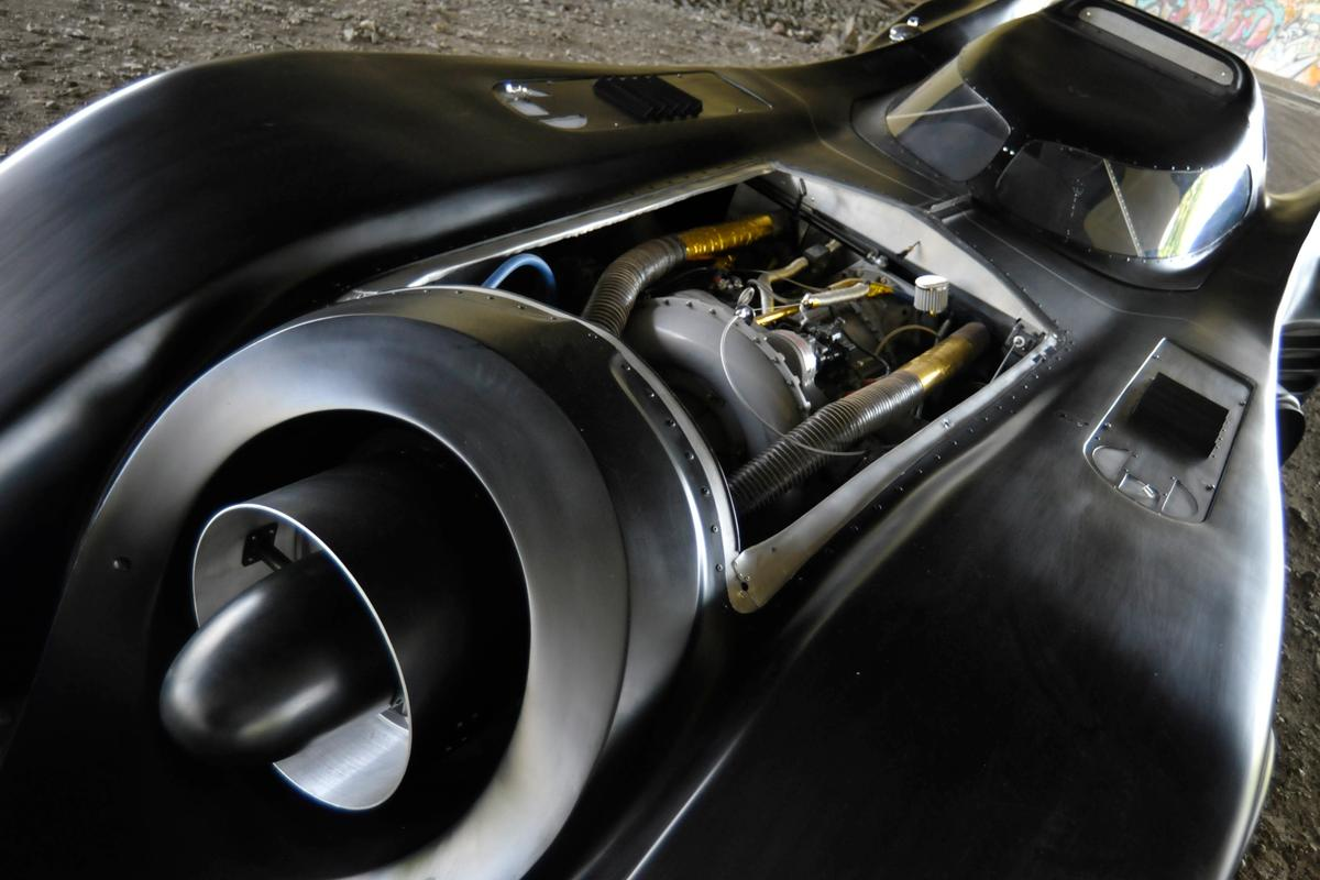 Auto restorer and designer Casey Putsch has built a replica Batmobile, that is powered by an actual jet engine (Photo: Putsch Racing)