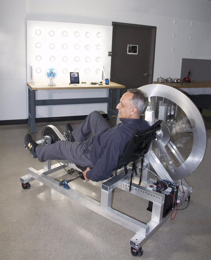 Pedaling the Free Electric for one hour is said to yield enough electricity to serve a home for 24 hours