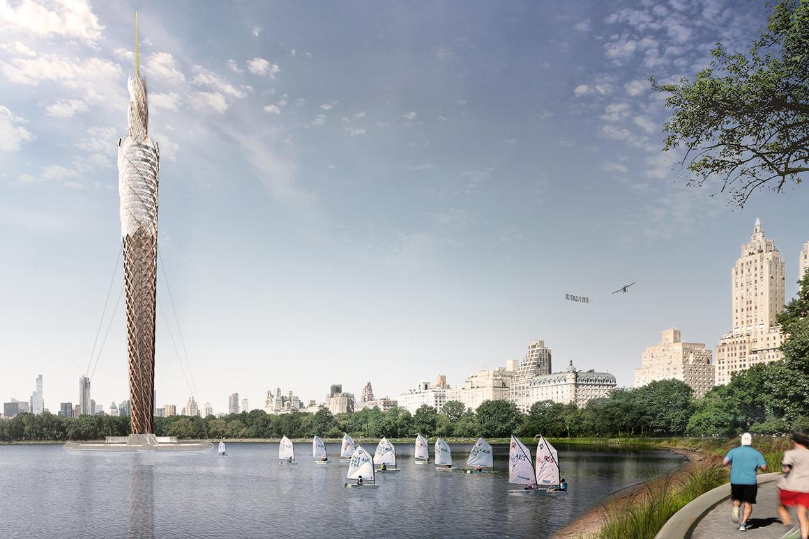 The Central Park Tower would rise to a heightof 712 ft (217 m), making it the world's tallest timber tower