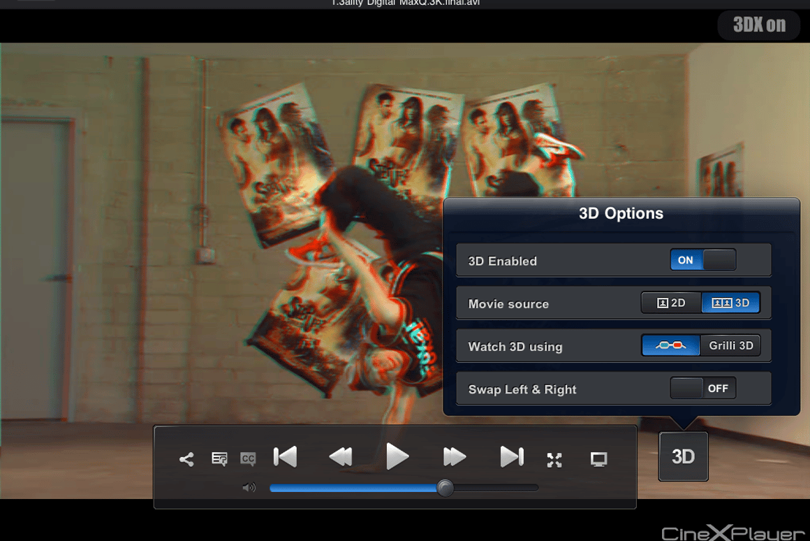 Updated CineXPlayer app brings glasses-free 3D to the iPad