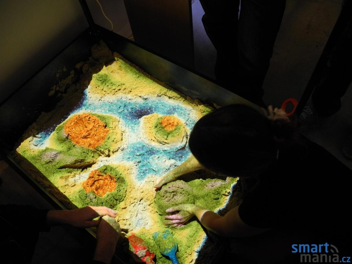 The Xbox Kinect turns an ordinary sandbox into a thriving interactive environment.