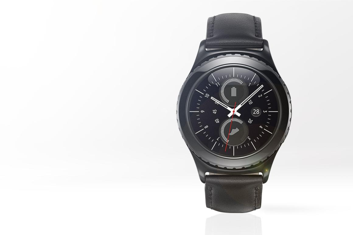 Samsung's Gear S2 has a round face and rotating bezel