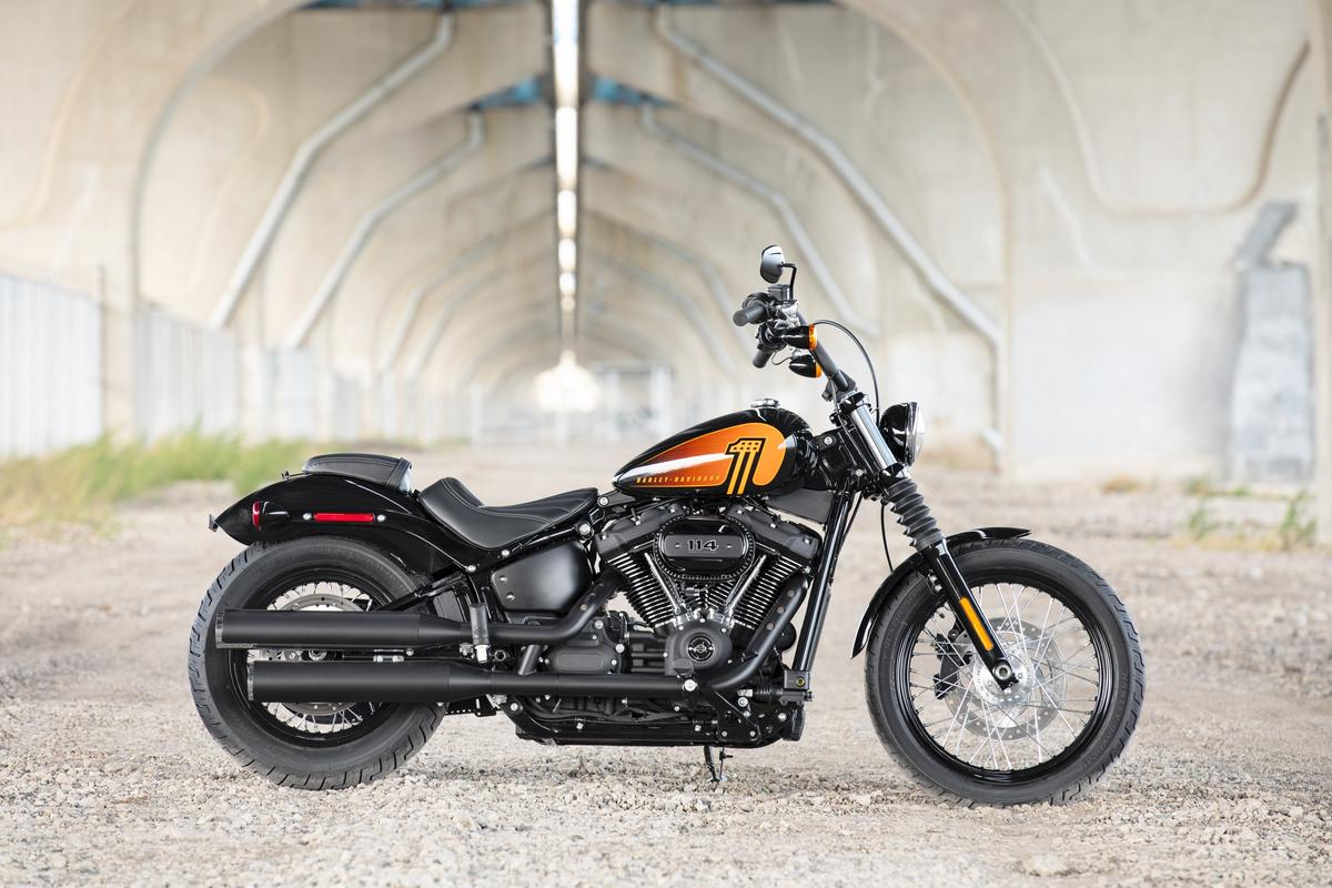 The 2021 Harley-Davidson Street Bob 114 is the latest Softail model to receive the bigger Milwaukee-Eight motor