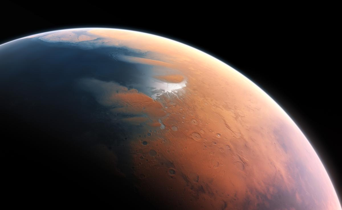 Mars as it may have looked 4.5 billion years ago (Image: European Southern Observatory)