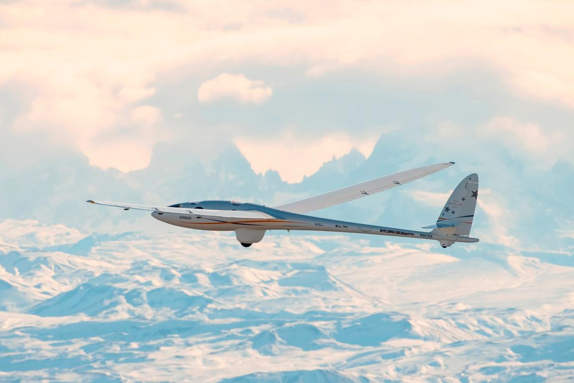 The Perlan 2 glider in action during a record-breaking flight last week